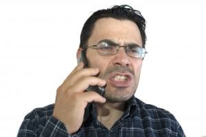 complaining man on the phone - Danilo Rizzuti